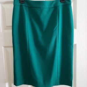 Ann Taylor turquoise pencil skirt